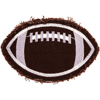 Football Monogram Backer Iron-On Applique